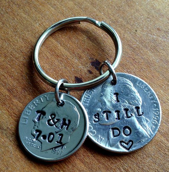 15th Wedding Anniversary Gift Ideas Uk : Anniversary Keychain/15th Anniversary Gifts for Men/ 15th Year Wedding ...