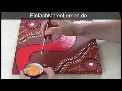 a dot art technique, after the aboriginal artists' style