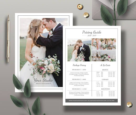 Check out this item in my Etsy shop https://www.etsy.com/listing/384914192/pricing-guide-template-photography