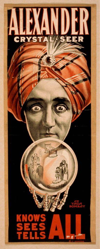 alexander - vintage magician poster