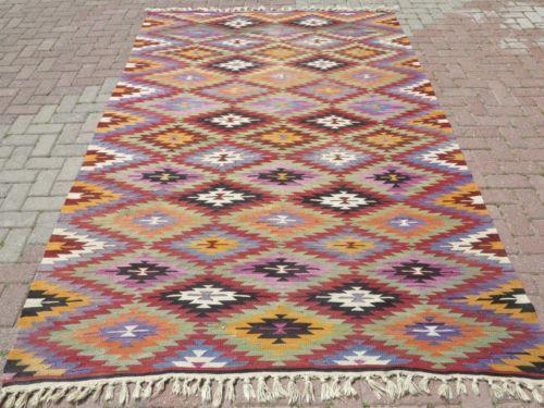 "Anatolian Turkish Classic Antalya Kilim 73 6"" x 117 3"" Area Rug Kelim Carpet | eBay"