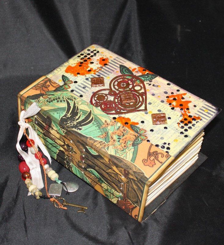 Junk Journal, Vintage Journal, Diary, Writing Journal, Handmade Journal, Mixed Media Journal, FEMININE STEAMPUNK by LLCreationsStudio on Etsy