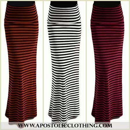 Merida- striped flared maxi skirt