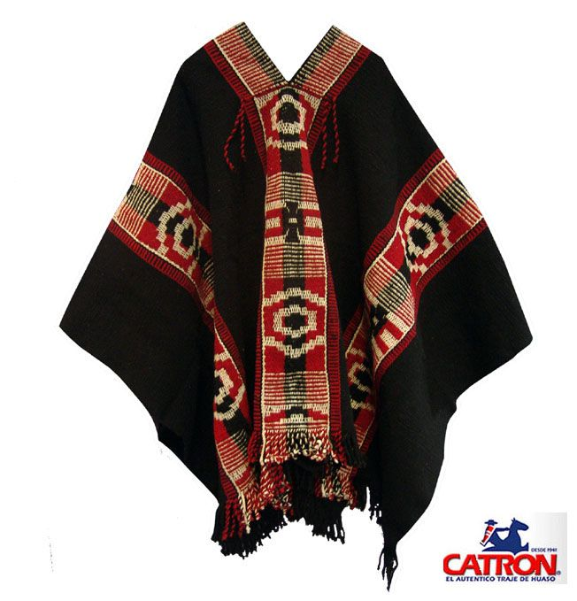 Poncho Mapuche negro