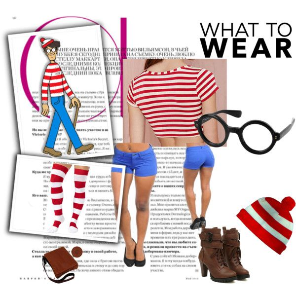 Where's Waldo Costume by carmensandiego777 on Polyvore featuring women's clothing, women's fashion, women, female, woman, misses and juniors