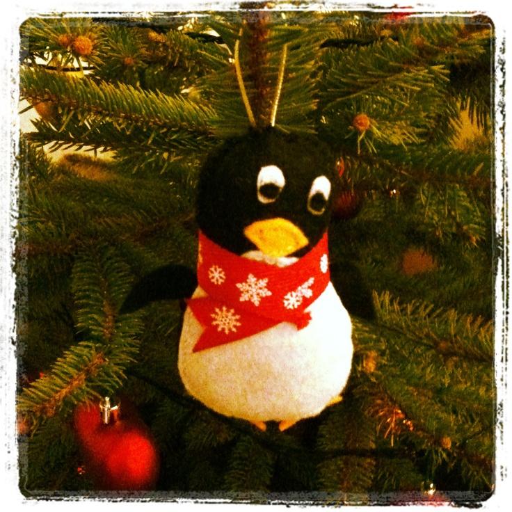 Christmas tree decoration #penguin #homemade