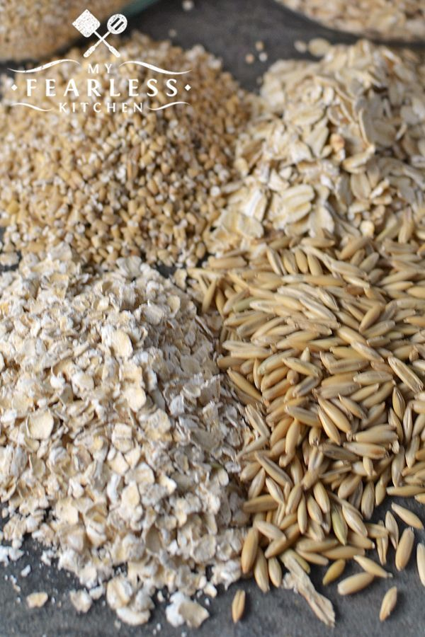 Different Types of Oatmeal from My Fearless Kitchen There are