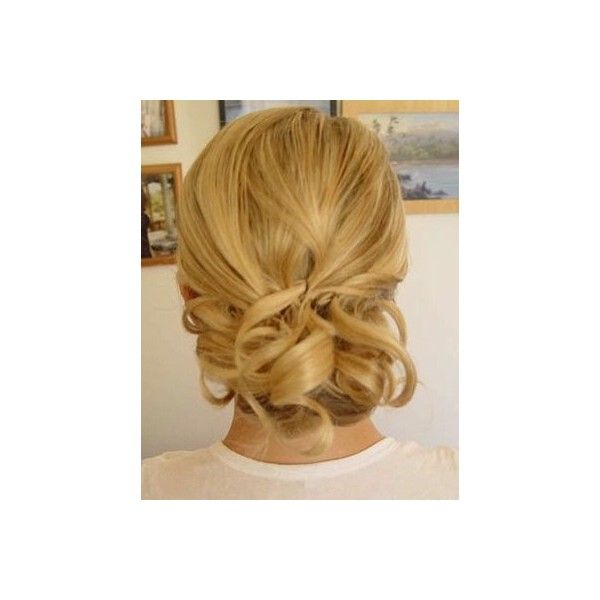 Updo Hair Styles For Wedding For Medium Hair found on Polyvore