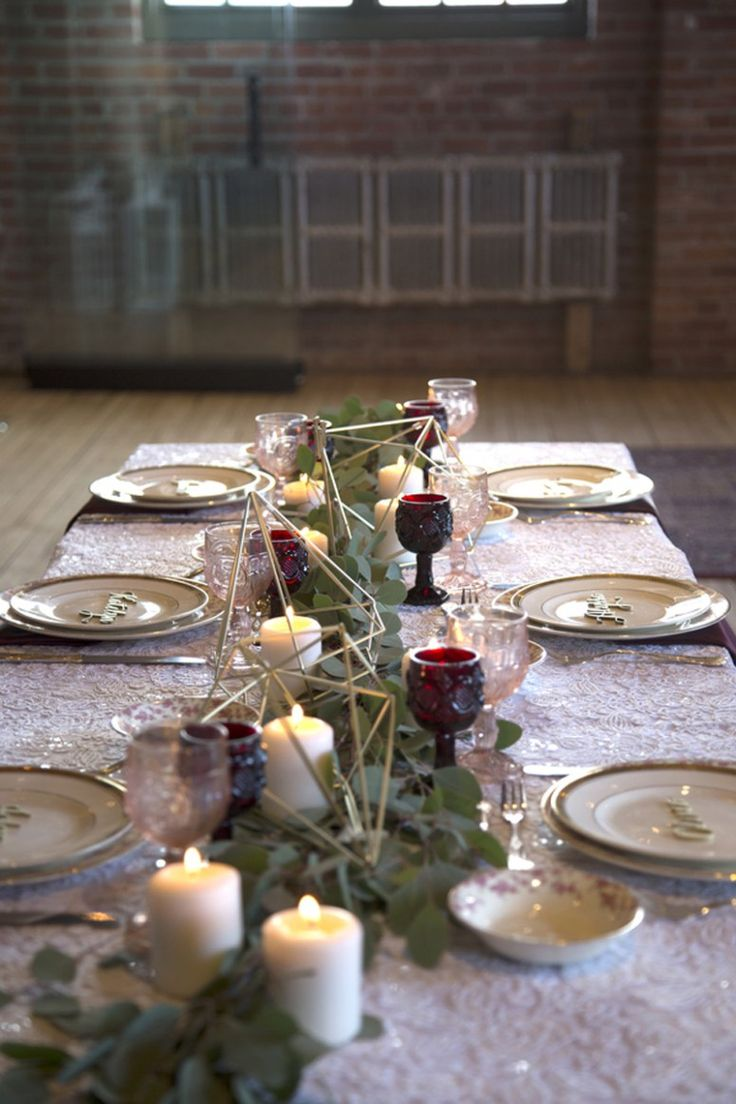This styled shoot uses hues of dark reds and blush pinks to create the perfectly balanced mood of lights and darks, making it a gorgeous pallet for all seasons.