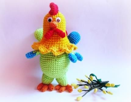 Rooster crocheted