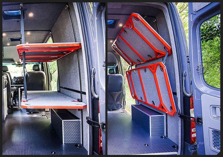 Osv Modular Flip Bunks 0 Van Dwelling Pinterest