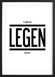 Legendary 1 - typealive - Affiche premium encadrée