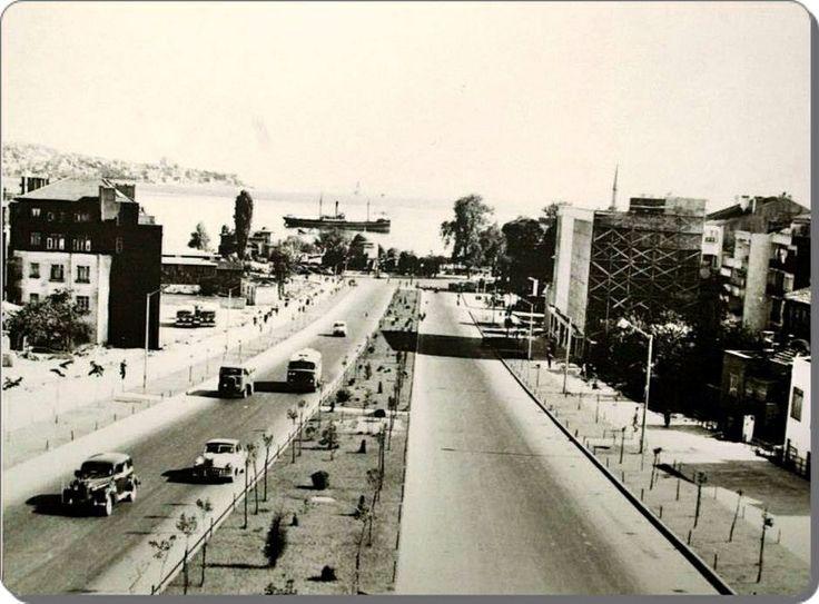 Barbaros Boulevard,Istanbul  in 1960s