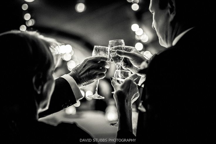toasting newly married couple