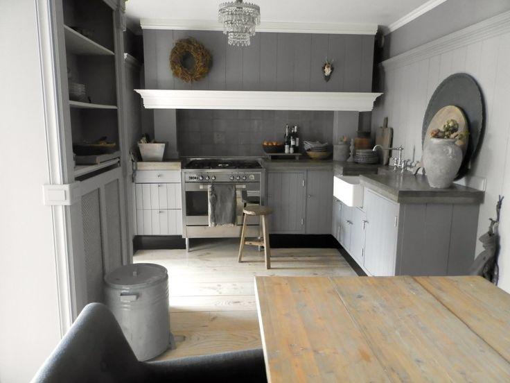 Mooie keuken, landelijk en toch stoer!
