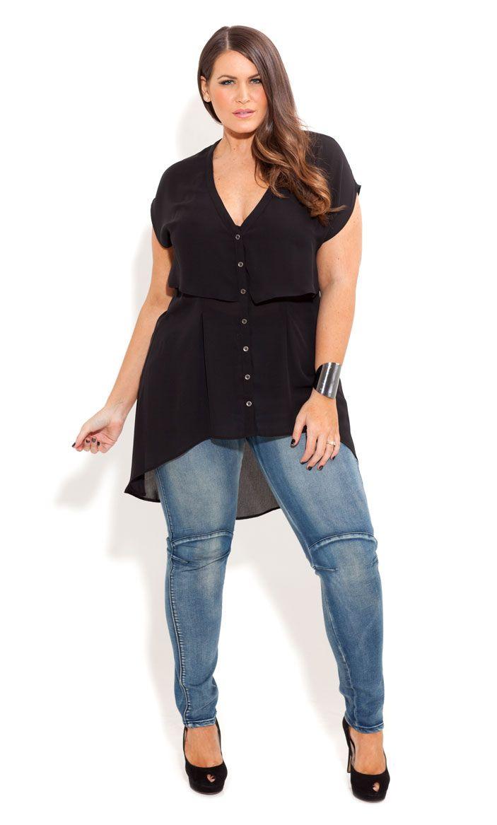 City Chic - TOUGH GIRL SKINNY JEAN - Women's plus size fashion