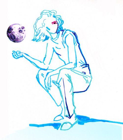 "Woman's world  - fashion illustration ""space series"" - by Karolina Niedzielska"