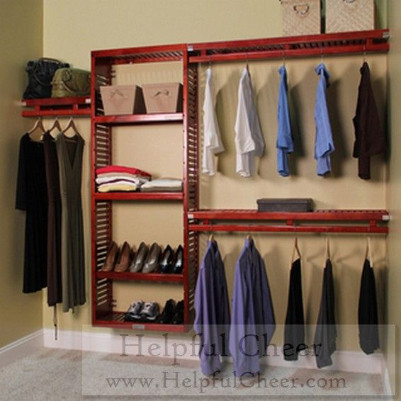 John Louis Deep Simplicity Red Mahogany Closet System   Overstock Shopping    Great Deals On John Louis Closet Storage