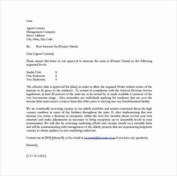 Letter To Raise Rent from i.pinimg.com