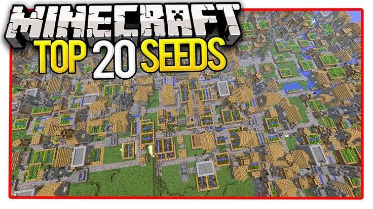 Minecraft Top 20 Seeds (Minecraft PE Seeds & Minecraft PC Seeds) 2016