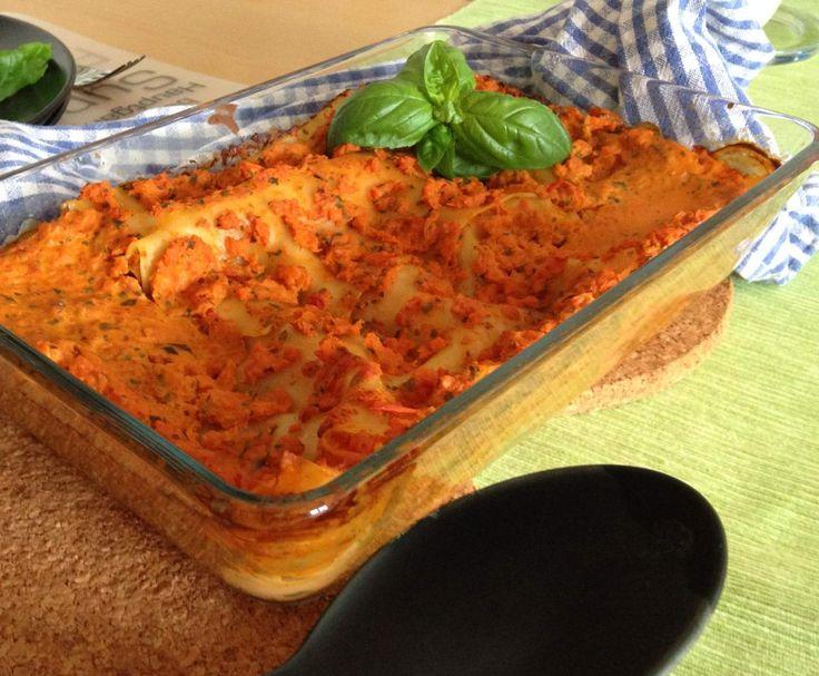 Rezept Karotten-Lasagne. So leicht. So lecker. ww tauglich von tkdBine - Rezept der Kategorie Hauptgerichte mit Gemüse
