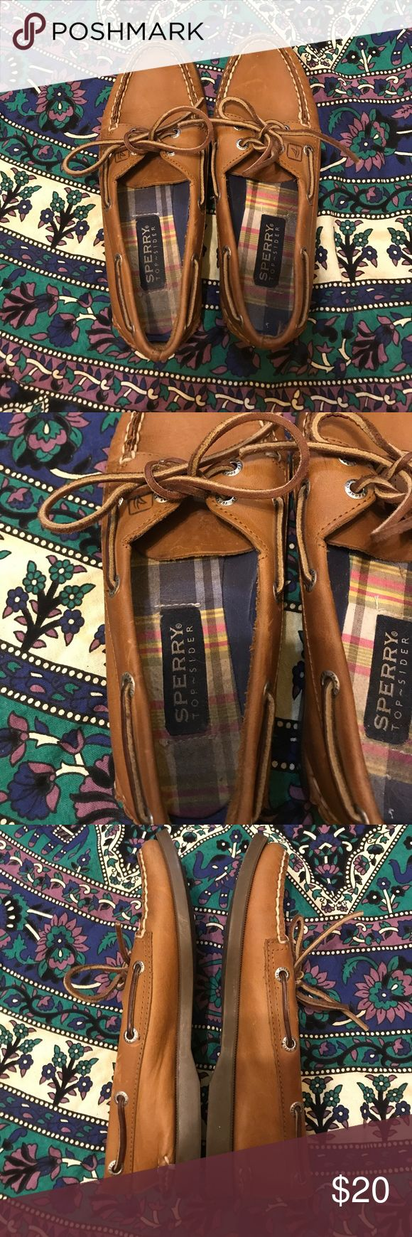 Brown sperrys. Brown sperrys. Great condition! Sperry Top-Sider Shoes