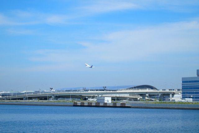 Jogging in the Kansai International Airport