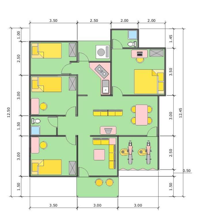 Desain Rumah Minimalis 9 X 12