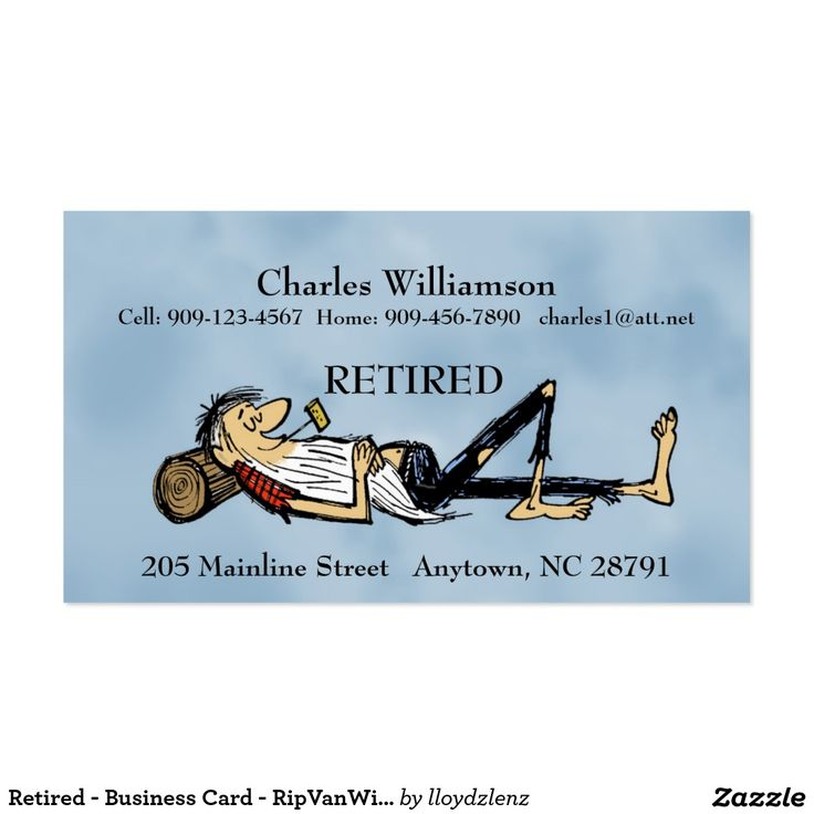 Funny Business Cards For Retirement | Best Business Cards