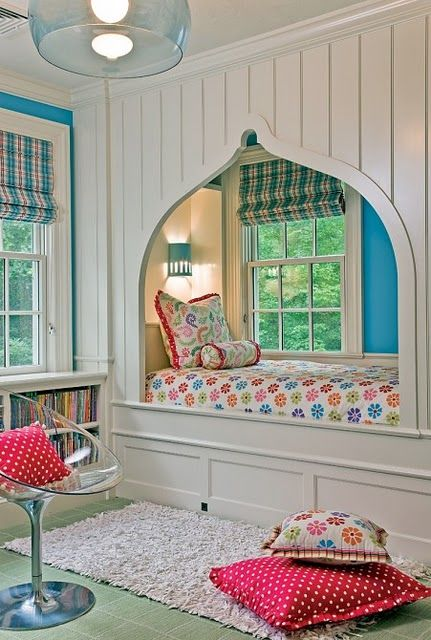 Love the bed by the window!