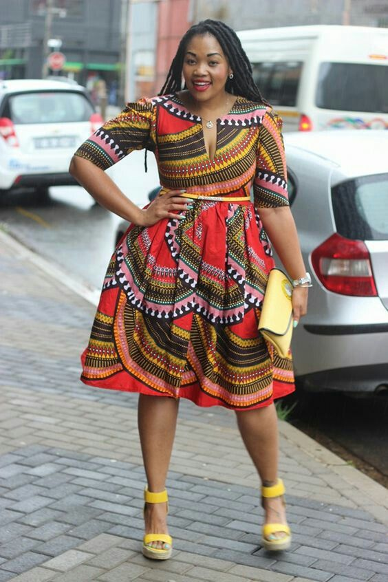 African style dresses plus size