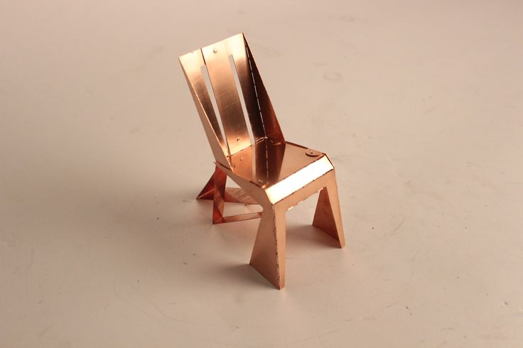 A Chair-one plate/red copper/folded