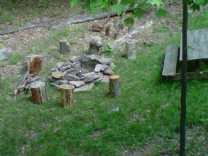 "Firepit at our Deep Creek Lake vacation rental home ""It's All Good"""