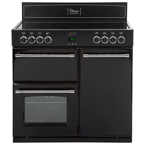 Buy Belling Classic 90E Electric Range Cooker, Black Online at johnlewis.com