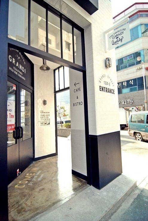 "2012 korea cafe interior design  mercim design  italian bistro ""grandi"""