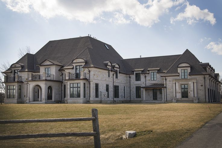 Custom estate home in King City, ON. Built with #Allstone natural stone on the exterior.