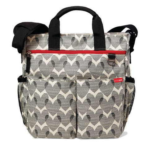 Skip Hop Duo Signature Baby Nappy Bag - Heart Design Black