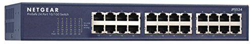 NETGEAR ProSAFE JFS524 24-Port Fast Ethernet Rackmount Switch (JFS524-200NAS)