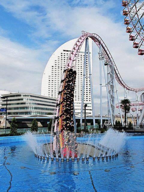 Underwater Roller Coaster in Yokohama, Japan