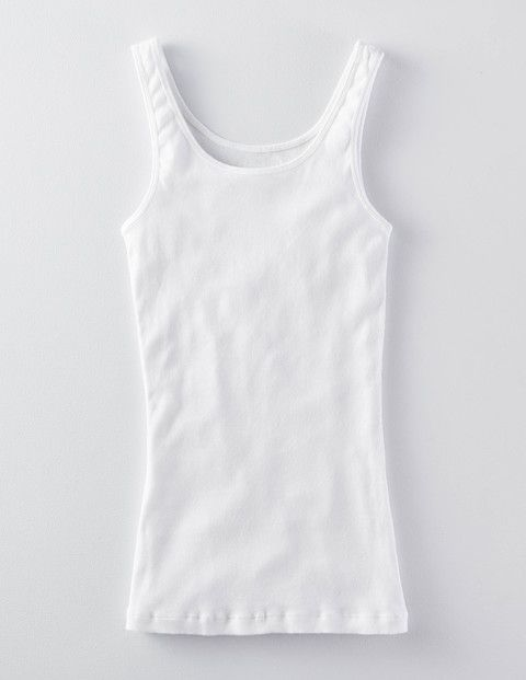 Slim Rib Vest (White)