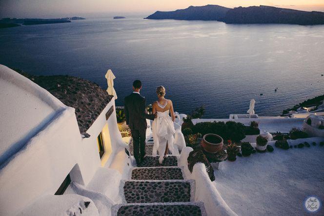 Newlyweds | Santorini Wedding by Stella and Moscha - Exclusive Greek Island Weddings | Photo by Nikos P. Gogas