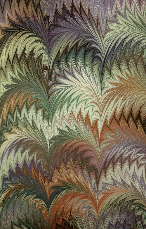 Marbled paper by Susan Pogany: