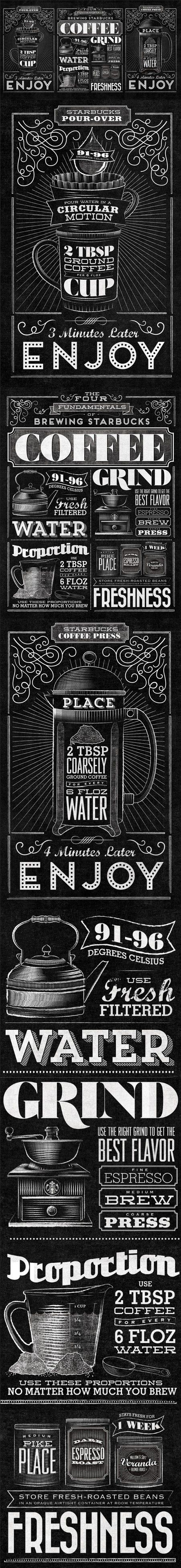 http://www.behance.net/gallery/Starbucks-Home-Brew/7638293 #coffee #infographics