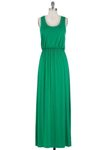 summer night stroll maxi dress in green | modcloth