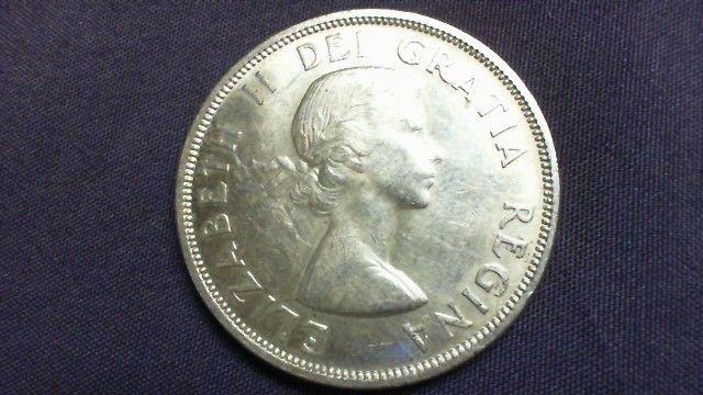 Canadian 1957 1 Dollar 800 Silver Eliz Ii Voyageur R8t1