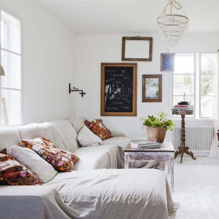 Keltainen talo rannalla *gorgeous cushion fabric