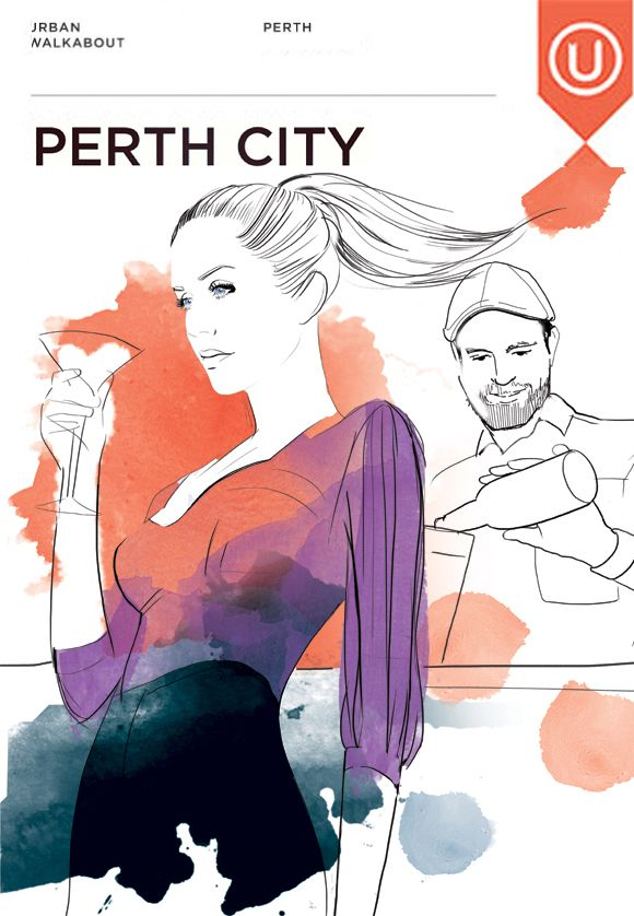 Perth City @Ashley Urban Walkabout guide June #illustration by #mekel