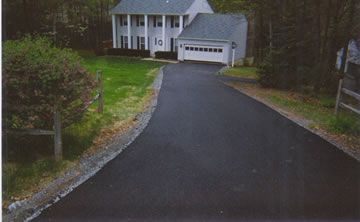 Tar and Chip Driveways - ( http://gormanpaving.com/residential-references/ ) Tar and chip driveways are a great choice for a driveway material. If you would like to keep the cost fairly reasonable, but want something more interesting than asphalt, you should consider this type of paving. #tar_driveway #paving #driveway