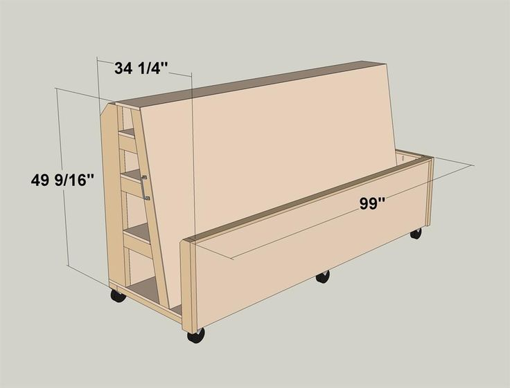 Ultimate Lumber And Plywood Storage Cart