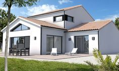 Découvrez cette Maison séjour plafond cathédrale Château d'Olonne ! Depreux Construction vous accompagne dans votre projet immobilier.